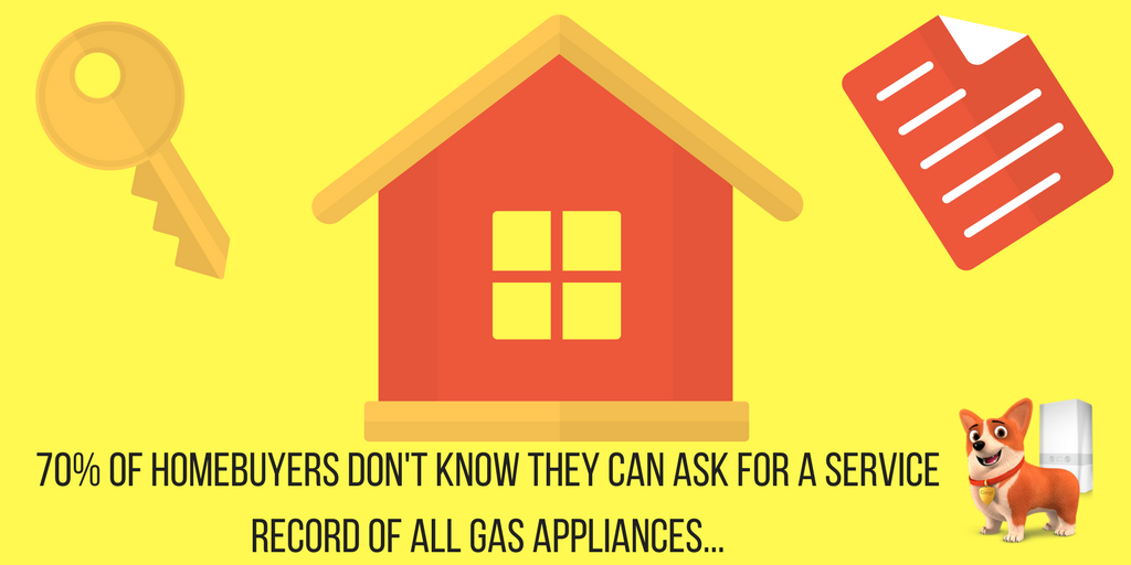70% of homebuyers don't know they can ask for a service record of all gas appliances...